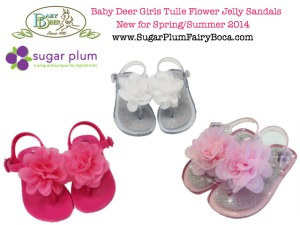 little girls baby deer jelly flower sandal shoes